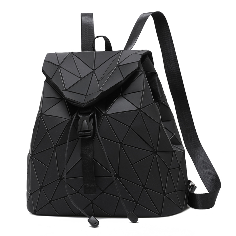 Nevenka Diamond Lattice Backpack Women Backpack Leather Creative Geometric Backpacks Drawstring Backpacks for Teenager Girl 201811