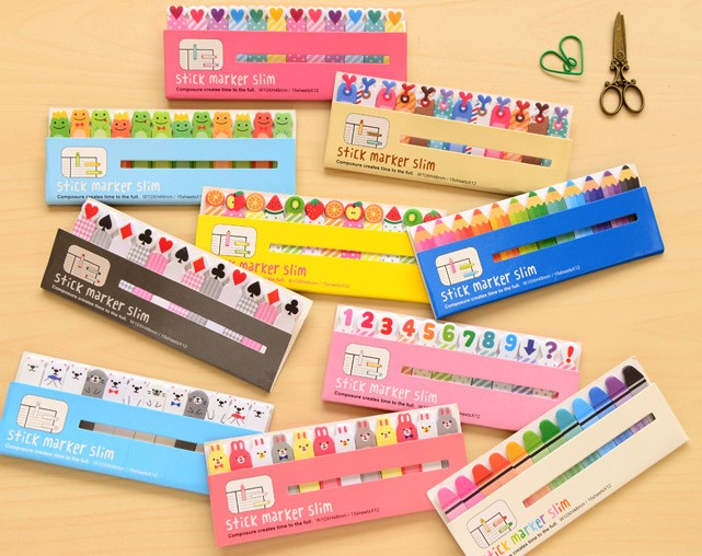3pcs/lot Korean Stationery Mini Memo Pads Kawaii Finger Sticky Notes DIY Posted It School Office Supplies Cute Stickers