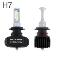 1 Pair DC12V Universal Waterproof S1 H7 50W 8000LM Auto Car Headlight 6000K Automobile Fog Lamp