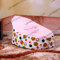 FREE SHIPPING Baby Seat Cover With 2pcs Bright Pink Up Cover Baby Bean Bag Seat Kids