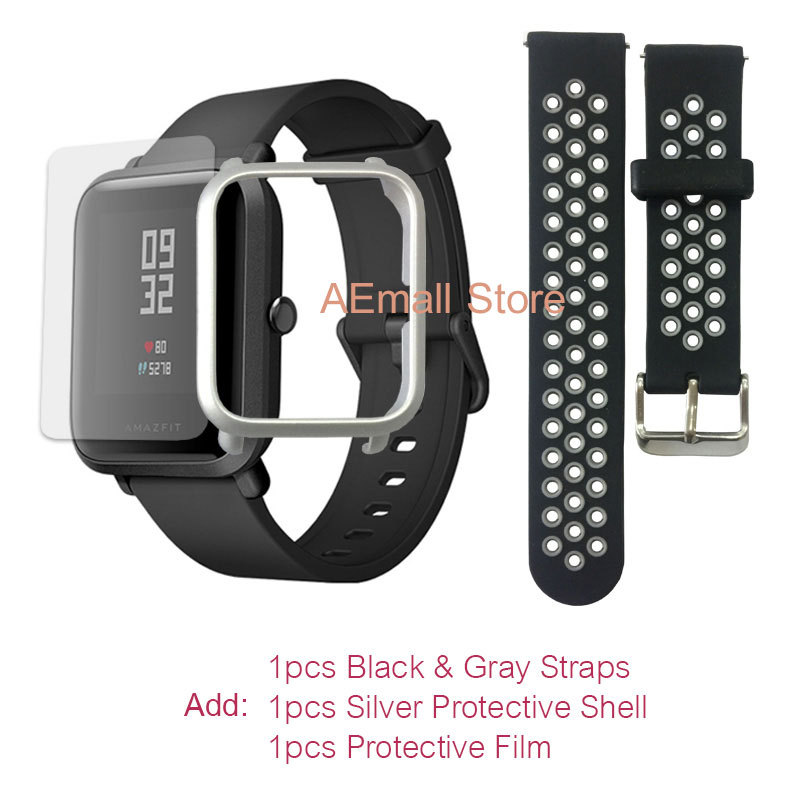 $57.99 = $59.99- $2 CUPÓN Versión inglesa Xiaomi reloj inteligente Amazfit Bip para hombre Hua mi Pace Smartwatch para IOS Android Monitor de ritmo cardíaco 45 días de batería - 4