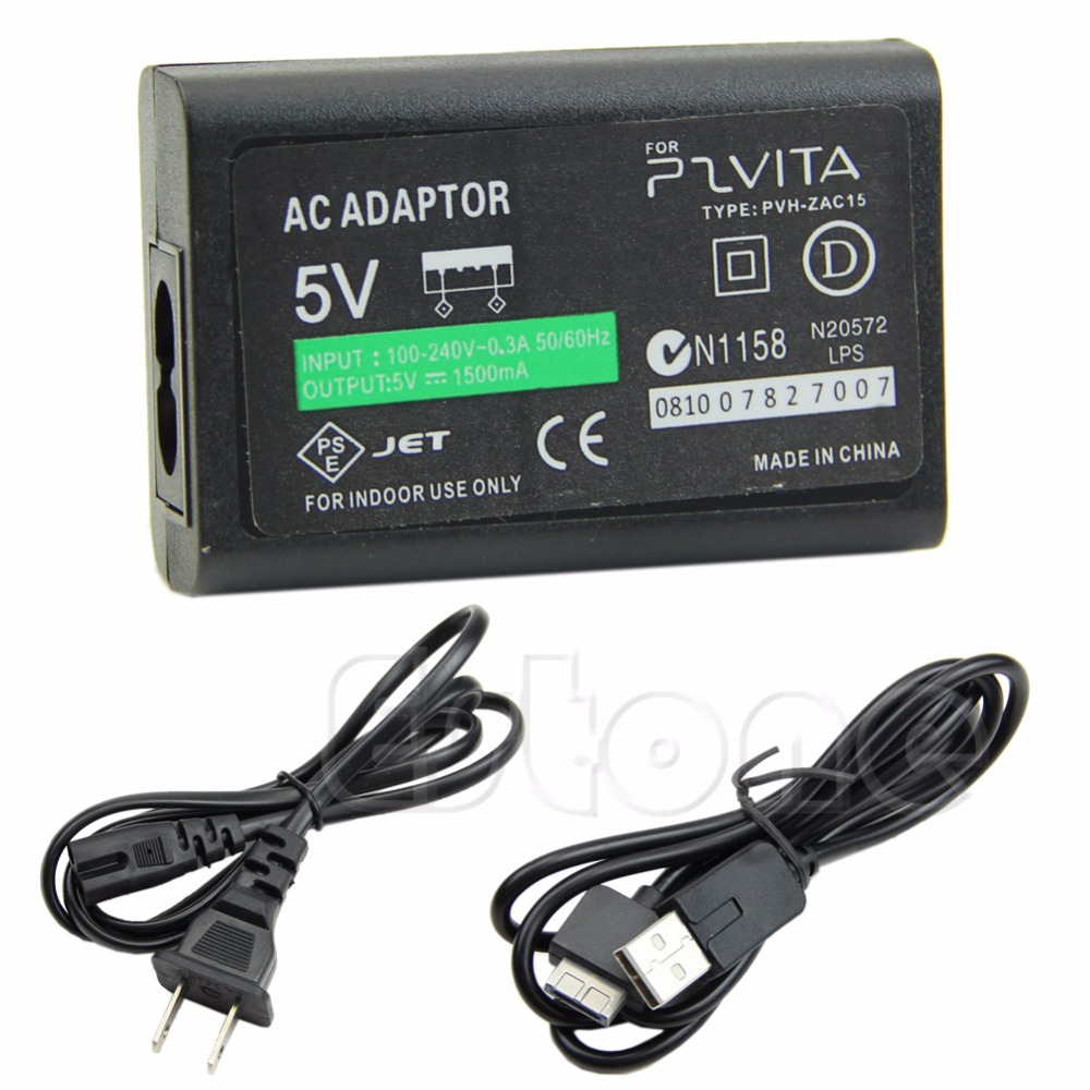 1 PC New AC Power Adapter USB Data Cable Supply Convert