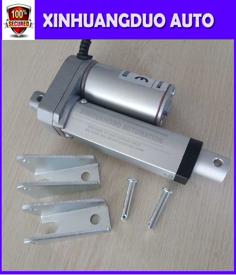 50mm stroke Electric linear actuator with mounting brackets 12V or 24VDC it can choose linear actuator