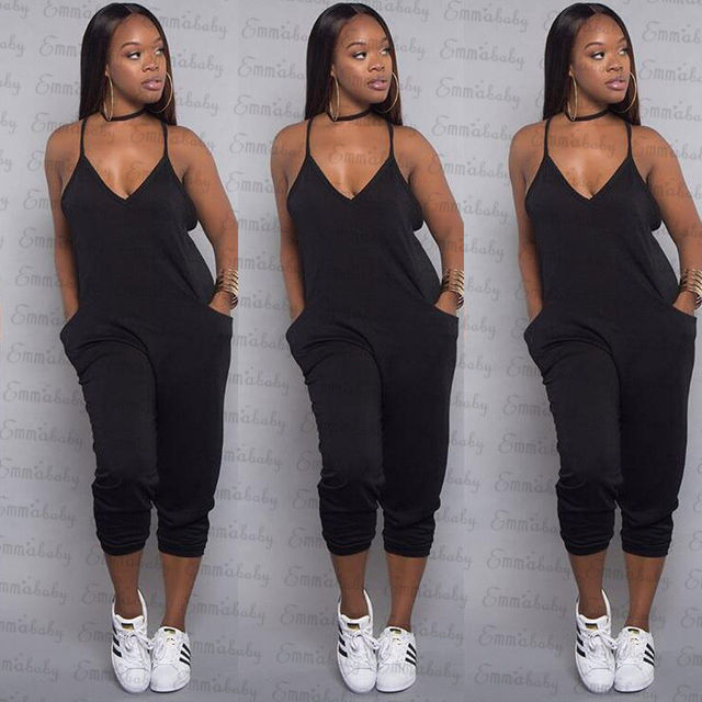aab8d3e193 2018 New Style Women Ladies Black Casual Clubwear Summer Playsuit Bodycon  Party Jumpsuit Romper Trousers