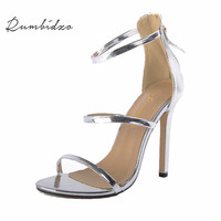 Size 35 43 Women Pumps High Heels Ladies Sexy Lace Up Gladiator Sandals Thin Heeled Gladiator