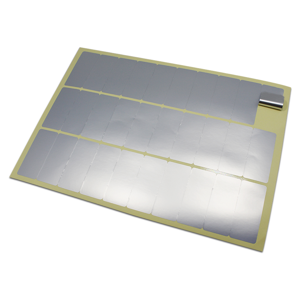 DHL transfert thermique argent PET étiquette autocollants blanc auto-adhésif étanche Code à barres électronique produit impression papier étiquettes