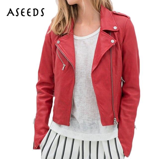 Winter Coat Women Motorcycle Faux Pu Leather Jacket Women Outerwear
