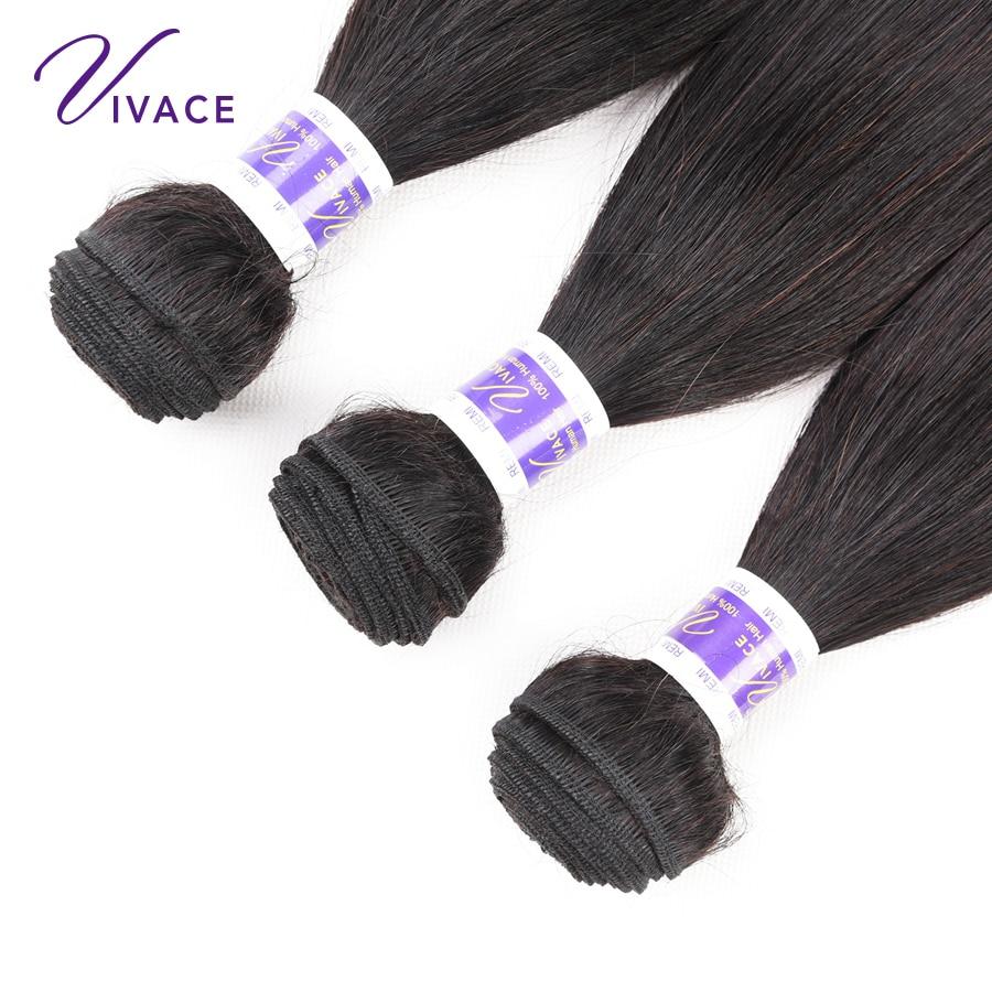 Straight Hair Bundles Mänskliga Hårvävspapper 100% Remy Hair - Mänskligt hår (svart) - Foto 3