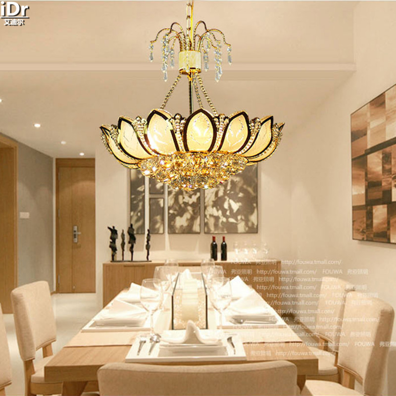 Golden Lotus restaurant lights living room lamp lighting bedroom lamp meal manufacturers Chandeliers Lmy-0120 traditional crystal lamp golden circular living room lamp lighting luxury bedroom lamp led patch ceiling lights lmy 080