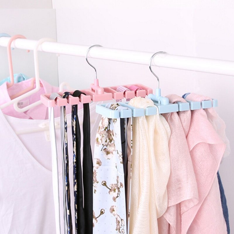 Multifuction Storage Rack Tie Belt Organizer Rotating Ties Hanger Holder Closet Organization Wardrobe Finishing Rack Space Saver