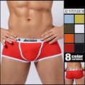 2pc/Lot Sexy Underwear Men Classic Solid Cotton Spandex Underpants Mens underwear Boxers Shorts Brand Megat Mens Cuecas Boxer