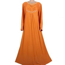 Muslim Abaya Kaftan Islamic Clothing for Women Beading Design Turkish Maxi Abaya in Dubai Kaftan Dress Yellow MD772
