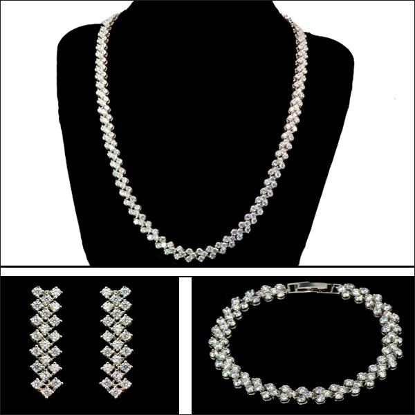 Rome Style Wedding Bridal Jewelry Sets Small Aaa Zircon Necklace Bracelet Earring Set Collar Novia In From Accessories On