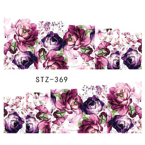 Image 5 - 48pcs Flwoer Designs for Nails Sticker Mixed Colorful Flower Full Foils Polish DIY Watermark Tools Nail Art Decals TRSTZ352 391