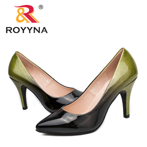 Image 5 - ROYYNA New Arrival Fashion Style Women Pumps Pointed Toe Women Shoes Shallow Lady Wedding Shoes Comfortable Soft Free Shipping