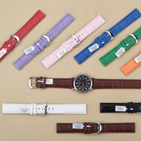 1PC Sales High Quality 12mm 14mm 16mm 18mm 20mm 22mm Men Women Genuine Leahter Watchband Watch