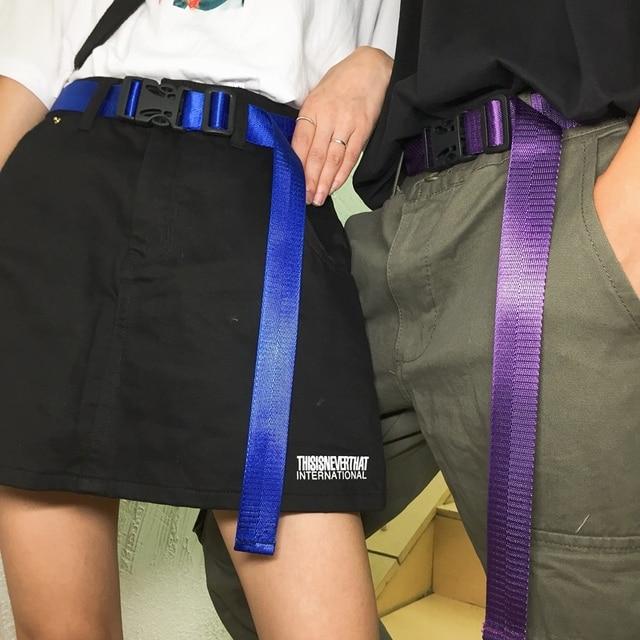 47e994ff340 Women Men Teenage College Student Vintage Solid Buckle Waist Belt Candy  Color Streetwear Fashion Accessories Harajuku Korean