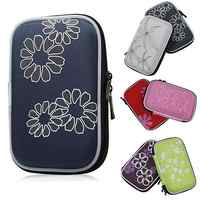 Flower Printed Shockproof Protect Case Bag for Headset 2.5'' Portable Hard Drive