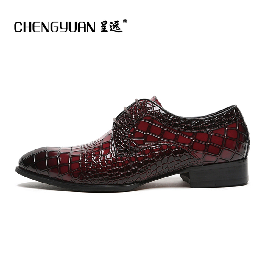 818d9730598f mens pure leather business leather shoes men wine red black wedding shoe  noble dress party leather ...