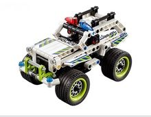 Toys Building Blocks china brand 3418 self-locking bricks Compatible with Lego Technic Police Interceptor 42047 Building Kit