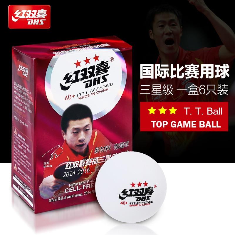 Free Shipping New Three- Star Level 40mm PingPong Ball 6 Pcs/Lot Table Tennis Ball