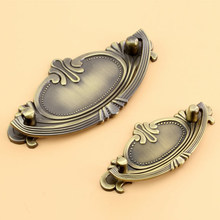 Antique Door Pulls Knobs Cabinet Kitchen Dresser Drawer Handles,64mm/96mm Hole Spacing, Zinc Alloy, Cpper and Bronze(China)