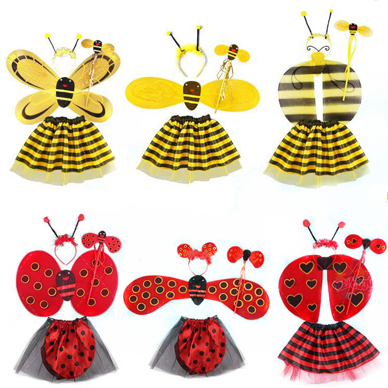 Bee Wings Antena Headband Fairy Wand Fusta Fusta Set Costum Props Fete Printesa Cadouri Party Party Decorare Purim