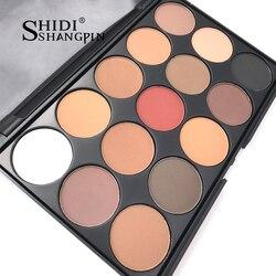 15 Color Eyeshadow Pallete Gorgeous Silky Powder Professional Nature Make up Palette Smoky Warm Matte Shining Eye Shadow  E01