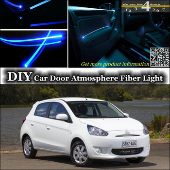 interior Ambient Light Tuning Atmosphere Fiber Optic Band Lights For Mitsubishi Mirage Attrage Space Star Inside Door Panel image