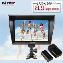 Viltrox DC-90 HD 8.9 «4 К IPS ЖК-дисплей Камера видео Мониторы Дисплей 1920*1200 больше Экран HDMI AV вход для Canon Nikon bmpcc Pentax