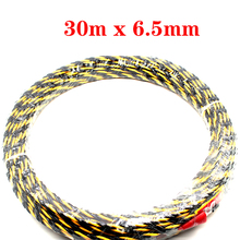 цена на Kelfebby Cable Push Puller Nylon Electric Wire Puller Conduit Snake Cable Rodder Fish Tape Wire Guide 30m x 6.5mm
