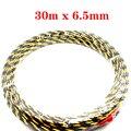 Kelfebby cabo push extrator fio elétrico de náilon cabo de cobra rodder guia de fio de fita de peixes 30m x 6.5mm