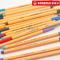 2015 New Hot Sale 10 Pieces Lot Free Shipping Stabilo 88 Slender Resurrect Hook Line Pen