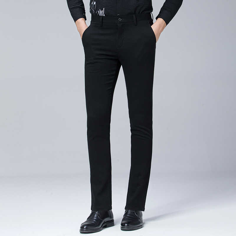 4c2d5f09080e Anbican Brand Autumn Winter Black Casual Pants Men Clothes 2018 Cotton Long Chino  Trousers Male Office