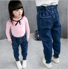 Kids Jeans Wear Casual Baby Girl Spring Autumn Long Trouser Elastic Fashion Pant Denim High-waisted Children Jeans For Girls