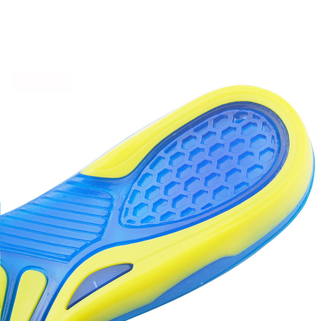 Demine Sport Shoes Insole Shock Absorption Elastic Sole Cushion Pad Heel Silicone Gel Spur Running Shoe Insert Pad for Men Women