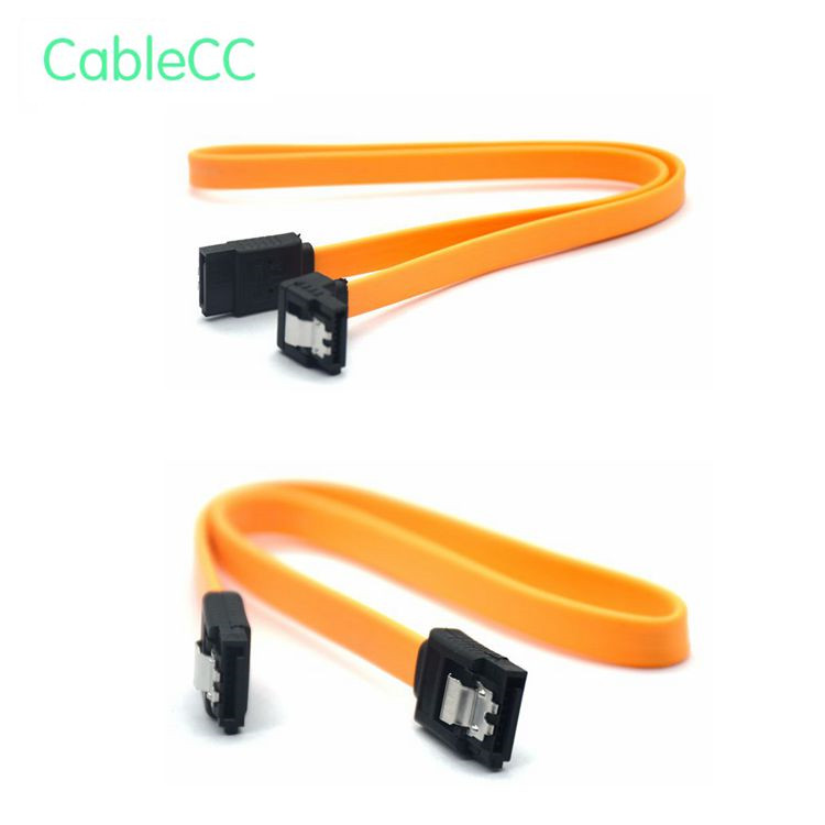 Ecosin2 Computer Cables & Connectors 45CM SATA 3.0 III SATA3 6Gb / S SSD Hard Drive Data Direct / Right Angle Cable Oct14