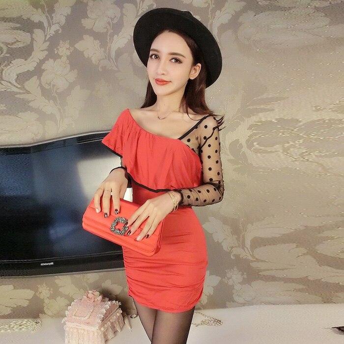 Модное Брендовое дизайнерское женское платье, демисезонное облегающее сексуальное клубное мини-платье в горошек, женские платья