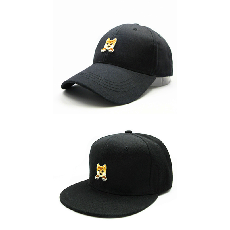 Beautiful Ldslyjr Pastoral Dog Embroidery Cotton Baseball Cap Hip-hop Cap Adjustable Snapback Hats For Kids And Adult Size 155 Exquisite (In) Workmanship