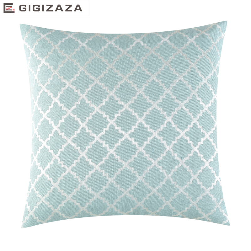 Japan summer geometric jacquard fabric Wholesales Pillow cushion chair Cushion cover Home Decorative for sofa yellow blue