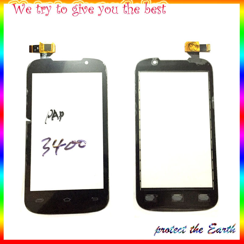 10Pcs/Lot, Touch Panel For Prestigio MultiPhone PAP 3400 Duo PAP3400 Touch Screen Digitizer