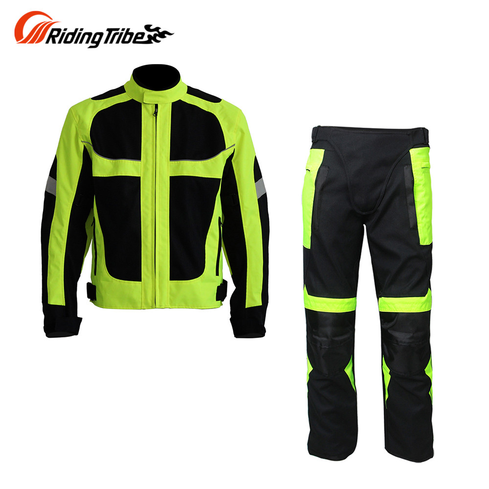 NEW Breatheable Summer Motorcycle Protective Jacket men Hip Protector Racing Pants Kits motocross Suits Jackets pants