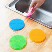 1 шт. Высококачественная силиконовая губка для мытья овощей и фруктов Антибактериальный кухонный коврик для очистки кухонных принадлежностей. W