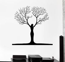 Free shipping Abstract Woman Tree Vinyl Wall Decal Sticker Room Decor Home Decoration Art Mural
