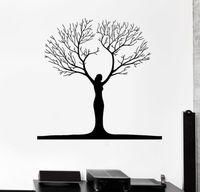 Freies verschiffen Abstrakte Frau Baum Vinyl Wandtattoo Wandaufkleber Room Decor Dekoration Wandkunst Wandbild