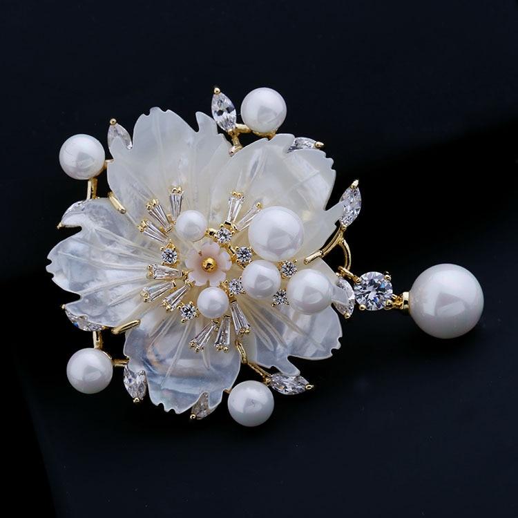 Nënë mahnitëse e Vjetër e Vjetër e Nuseve të Perlave Lule Pearl - Bizhuteri të modës - Foto 4
