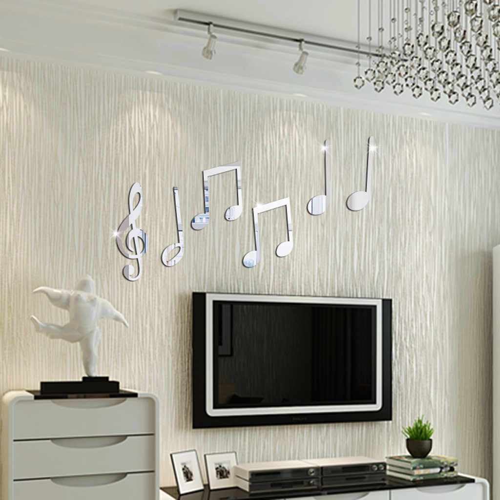 Decoration Removeable  Acrylic Vinyl Art Musical Note Sticker Walls Home Decor Mural DIY Decals Stickers Bts Poster 19Jan21 P35