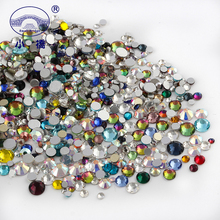 3D Color Rhinestones For Nails Diy Manicure Crystal Decoration Non Hotfix Glass Flatback Z196