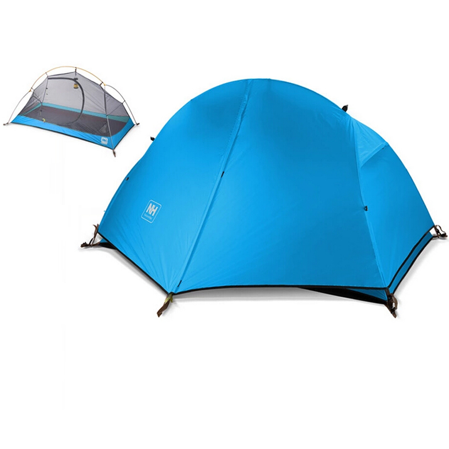 Outdoor Camping Tent 1 Person Ultralight Double Layer Waterproof Dome Fishing Tent Hiking Cycling Fishing Beach Party Tent brand 1 2 person outdoor camping tent ultralight hiking fishing travel double layer couples tent aluminum rod lovers tent