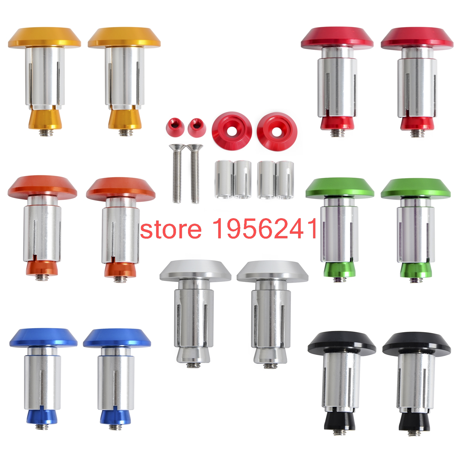 CNC Billet Handlebar Cap Plugs for KTM 50 65 125 200 250 300 350 400 450 500 525 530 690 990 SX EXC SMR MXC SXS 2000-2016 orange cnc billet factory oil filter cover for ktm sx exc xc f xcf w 250 400 450 520 525 540 950 990